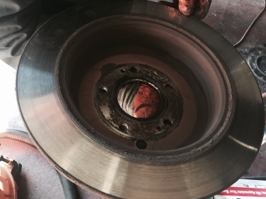 Brakes when taken off the vehicle